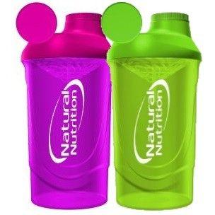 Shaker Natural Nutrition 600ml barevný průhledný 600ml Růžový 600ml Růžový