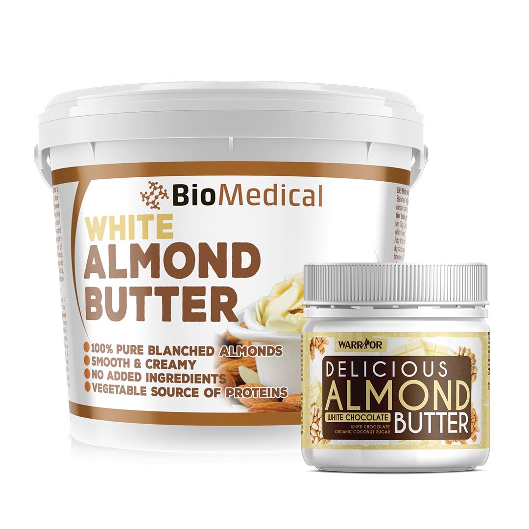 White Almond Butter - máslo z loupaných mandlí 400g Delicious White Chocolate 400g Delicious White Chocolate