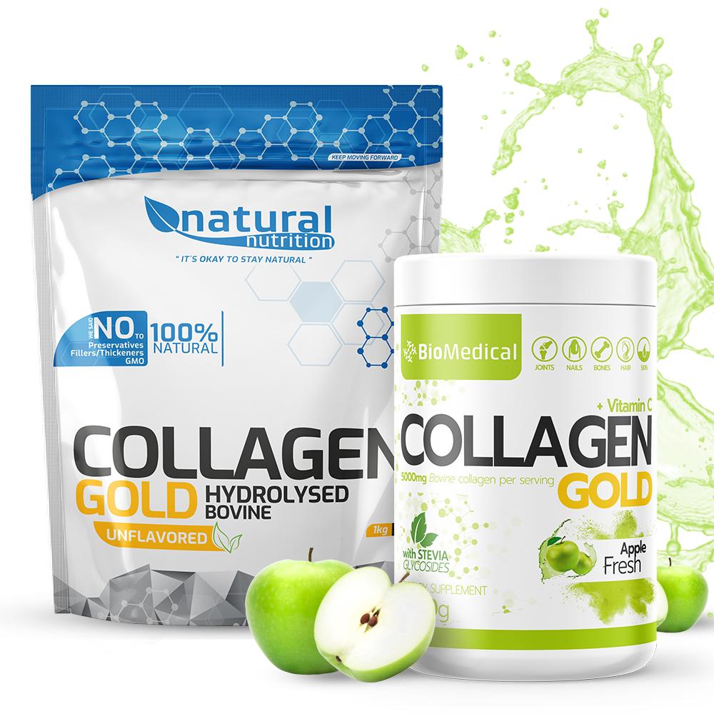 Collagen Gold - Hydrolyzovaný kolagen 300g Stevia Lemon Fresh 300g Stevia Lemon Fresh