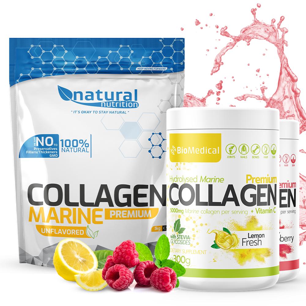 Collagen Premium - Hydrolyzovaný rybí kolagen 300g Stevia Lemon Fresh 300g Stevia Lemon Fresh